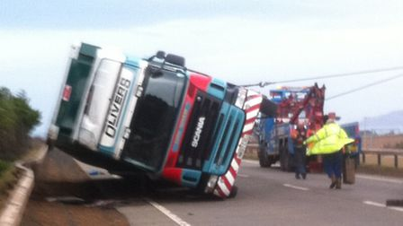 Once Martin Hamilton had made sure the driver was safe he took a picture of a lorry being righted af