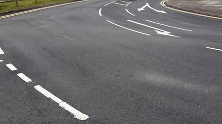 The area of Chells Way that has already been resurfaced