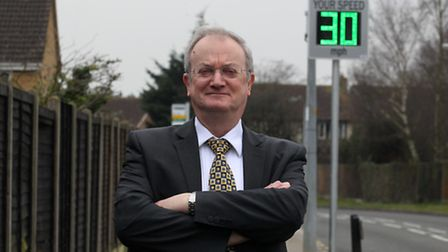 County Councillor Robin Parker who covers Chells ward has worked to install some speed camera device