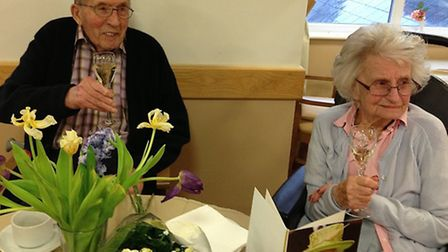 Stan and Agnes on their 72nd wedding anniversary