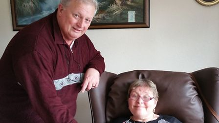 Norman Phillips with his wife Ros.