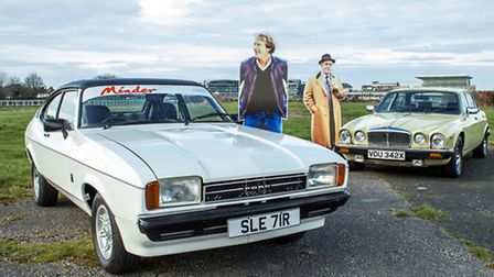 The two cars from Minder, that are to go on sale in Duxford