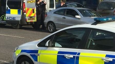 Police were called to Stevenage High Street after reports of a man acting suspiciously outside Costa