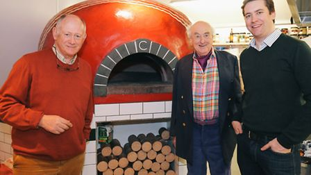 Anglian Country Inns Chairman Cliff Nye, Henry Blofeld and managing director James Nye.