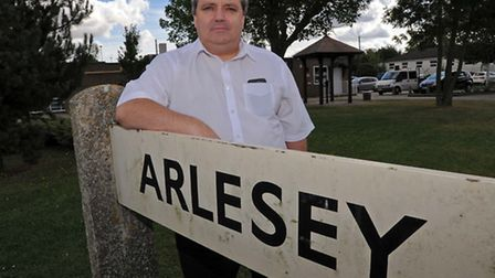 Arlesey Town Council chairman Mick Holloway