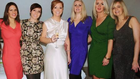 Fundraising friends Carly McDowell, Polly O'Brien, Erica Lane, Samantha Smallwood, Lucy Jackson and