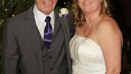 Mel Harrington-Smith with her dad Eric Blackmore on her wedding day in December 2015.