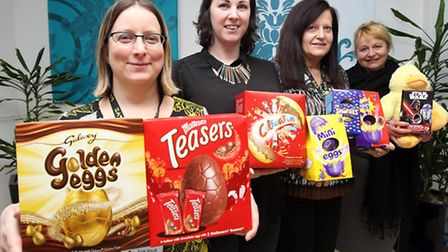 Natasha Jewell and Tracy Savage from LV= (left and third from left) with Tate's Anya Keshishian and