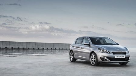 The Peugeot 308 Allure with optional 18inch Saphir wheels.