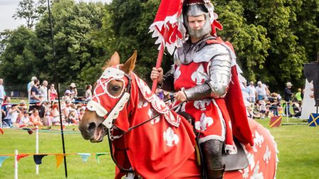 Jousting is a regular favourite at Knebworth House