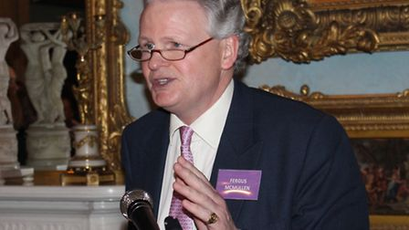 Fergus McMullen at the launch of the Keech Hospice Care Hertfordshire appeal, Wrotham Park, March 20