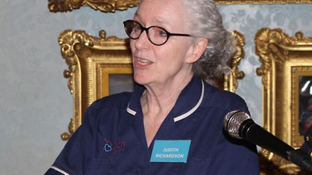 Judith Richardson at the launch of the Keech Hospice Care Hertfordshire appeal, Wrotham Park, March