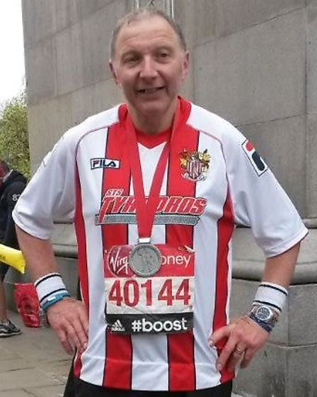 Geoff Millman is hoping to complete the marathon in under five hours.