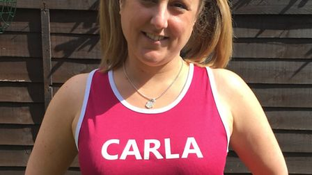 Carla Pilsworth of Hitchin will be running the London Marathon this weekend for Tommy's, a charity t