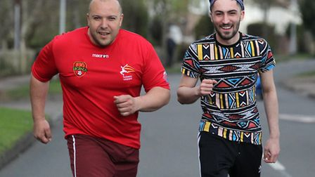 Comet journalist Layth Yousif and brother-in-law Harry Mason will be running the London Marathon