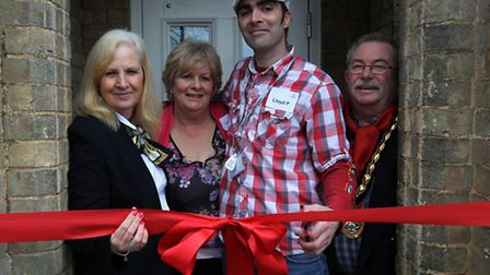 Council leader Sharon Taylor at the opening of the 40-bed Stevenage Haven hostel