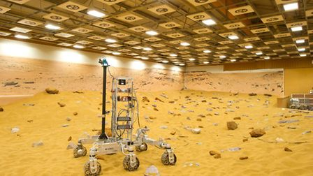 The Mars Rover, built by Airbus in Stevenage.
