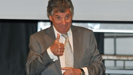 Former Arsenal vice-chairman David Dein at the Priory School