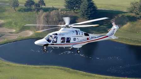 An Agusta Westland AW169, which the EHAAT have purchased for the first time in their 20-year history