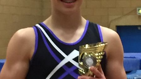 Ickleton's trampolinist Matthew Burson took second place in the Boys U19 Elite competition at the Br