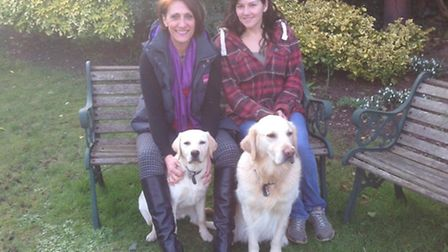 Anne and Amanda Banner from Hitchin with Roxy, left, and their own dog Boris.