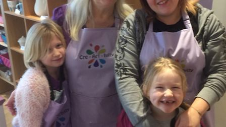 Amanda Smith and her family are supporting Jen Clare's bid to walk independently.