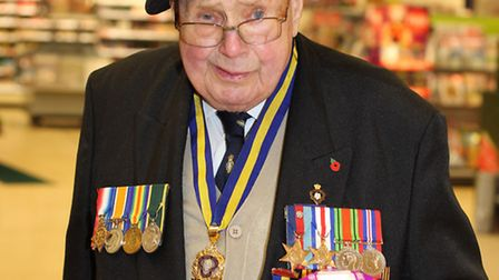 Stan Stokes was well known for collecting at Sainsbury's Poplars store for the Stevenage Poppy Appea