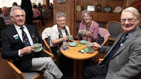 John Jeffery, pictured on the right with wife Pat and fellow Stevenage Royal British Legion members