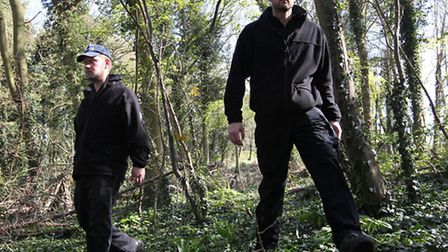 Police search Therfield Heath