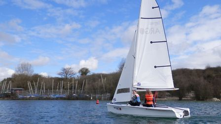 Learning about sailing at Arlesey's Blue Lagoon