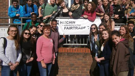 M<ore than 50 French teenagers from Salins-les Bains in the Jura region descended on Hitchin which t