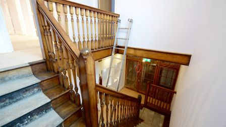 The original staircase has been retained as part of the refit