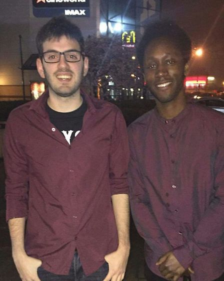 Anton Rice (right) was denied entry to Bar & Beyond on its opening night on Friday. He is pictured h