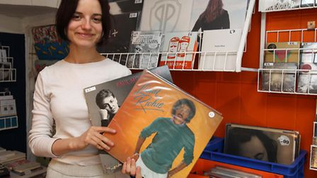 Hannah Fishwick, assistant manager with vinyl at Humanitas in Hitchin.