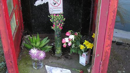 A shrine was left for the goose.