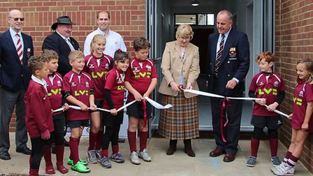 The opening of the new Hitchin RC clubhouse last summer.