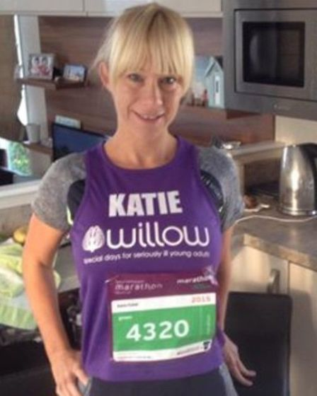 Katie had run five previous marathons and was overwhelmed when people continued to donate to the Wil