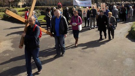Good Friday Walk of Witness organised by Churches Together In Hitchin, Easter 2016