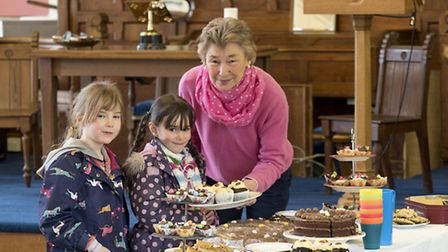 Treasure hunters were rewarded with a cake at the event in the United Reformed Church in Thaxted. P