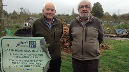 Baldock Allotment and Leisure Garden Association chairman Mick Camp and general secretary Phil Chars