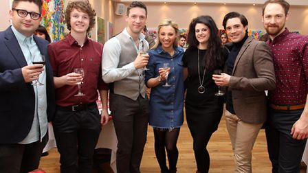 Members of the cast met fans at the Alice In Wonderland gala night at the Gordon Craig Theatre, Stev