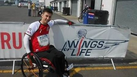 Dean Pitcher was left paralysed after a motorbike accident and is dedicated to raising money for res