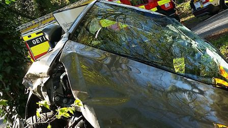 Three casualties were taken to the Lister Hospital in Stevenage after an accident on the B655 at Hex