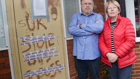 Bob and Rose Jackson have been evicted from their Stotfold home.