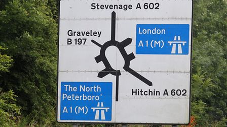 There have been delays on the A602 between Hitchin and Stevenage after a two-car crash this morning.