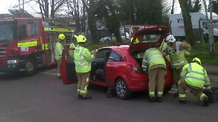 The scenes from a hit and run in Green Lane, Letchworth, earlier this month.