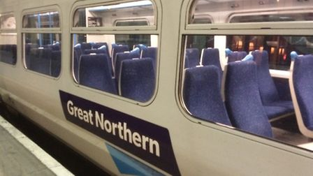 There are delays on the Great Northern line after a person was struck by a train near Welham Green.