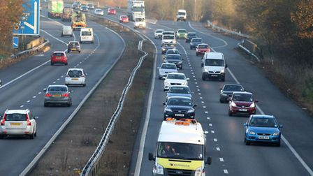 There severe delays on the A1(M) southbound near Letchworth and Stevenage this morning, with a lane