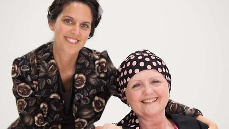 Jasmin Julia Gupta and volunteer Marian Mason, who came to Cancer Hair Care as a patient, are passio