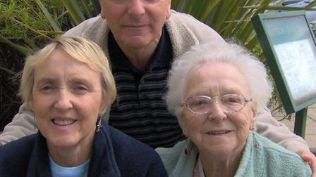 David said Pamela's diagnosis had an impact on the whole family, they are pictured here with their m